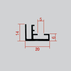 20mm-Single-Sided-Textile-Profile | AdverTech Digital Advertising & Media Displays