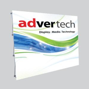 12.5mm-Budget-Straight-Banner-Wall | AdverTech Digital Advertising & Media Displays